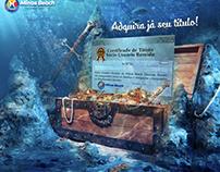 """Arte para divulgação e venda do """"título"""" Minas Beach"""