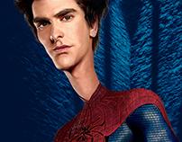 Caricature Andrew Garfield (Spiderman) / Illustration