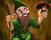 Dwarf mage Mushroom Spell