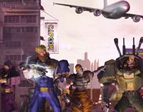 Captain Commando Team CG - 3D Fan Art Challenge