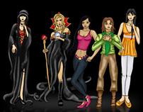 Diseño Personajes - Las Sombras de la Casa Mitre