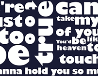 Kinetic Typography - CAN'T TAKE MY EYES OFF YOU
