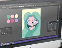 Ilustración y diseño de afiche