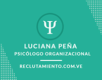 Business Cards - Luciana Peña