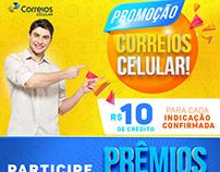 Layout Site Correios Celular