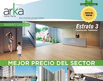 Publicidad para revista de construcción.