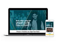 Hotsite CNCN & Zé Felipe - Sony Music