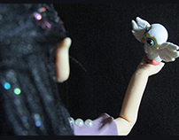 Cold porcelain figurine: Onírica, the night fairy