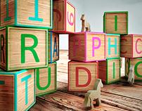 """Tipografía 3D """"Piezas de madera"""""""