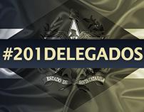 Identidade visual e postagens - #201delegados