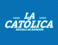 Afiche corporativo de el colegio La Católica.