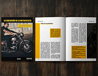 Diseño Editorial, Historia de la motocicleta v1