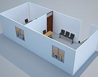 """Render oficinas para la empresa """"Ideas Constructivas""""."""