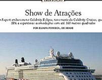 Show de atrações em inauguração de navio