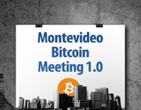 Poster for a Bitcoin meeting in Montevideo