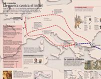 Infografía sobre Las Cruzadas.