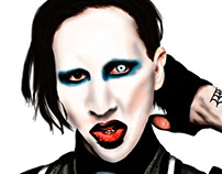 Marilyn Manson. Pintura digital.
