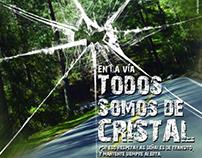 """Afiches de campaña """"en la vía todos somos de cristal"""""""
