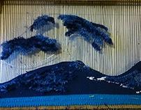 Mi versión tejida de La Ola de Kanagawa