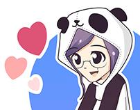 Chibi Kigurumi Panda