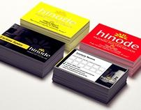 Cartões de visita Hinode Cosméticos e MMN