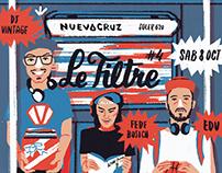 Flyer Ilustrado para Le Filtre nro. 4
