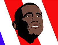 Obama - Vetorização de rosto