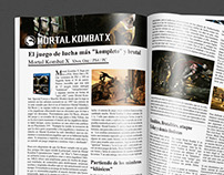 Mortal Kombat magazine editorial design