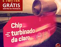Projeto claro: chip turbinado