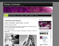 Sitio web creado en wordpress acerca de masajes