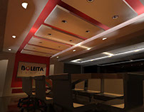 first proposal for the design of the conference room