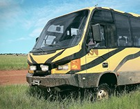 Design renewal: From urban minibus to Rally 4WD bus
