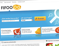 Diseño de interfaz y logotipo para portal Fifoo