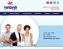 Layout do site - Academia Nadar - Home