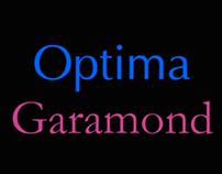 Video Tipográfico - Garamond & Optima