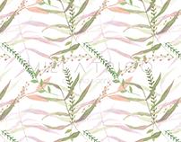 Folhas em Aquarela I - Pattern Design
