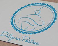 Logo y Papelería ''Dulzura Postres''