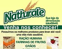 Criação de panfleto para loja de produtos naturais.