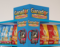 Ganador dog food Racks