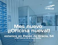 Diseño publicitario para Viajes Unibras