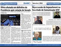 Projeto gráfico + Logo - Jornal Mergulho Diário