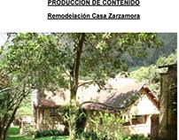 PRODUCCIÓN DE CONTENIDO  Arquitectura y Diseño Interior
