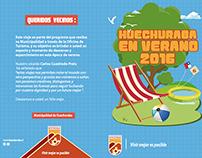 Mini Folleto  para actividades Municipalidad de huechur