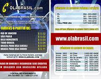 Folder para empresa americana Olabrasil.com