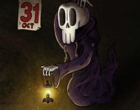 Ghost floating skull