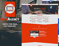 New Agency - One Page Theme (PSD)