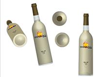 Diseño prototipo Botella vino blanco