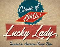 Lucky Lady script typeface