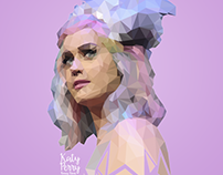 Katy Perry | Low Poly - Portrait