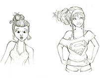 Personagens a Lápis